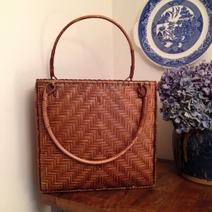 Wicker Basket Bag
